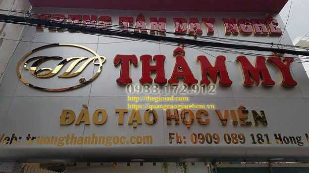 Thi công bảng hiệu quảng cáo ở TPHCM